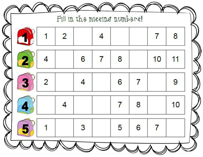 Fill In The Missing Numbers!
