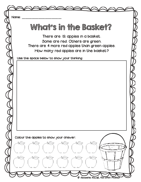 Free Addition Math Station Worksheet & Noise Level Management