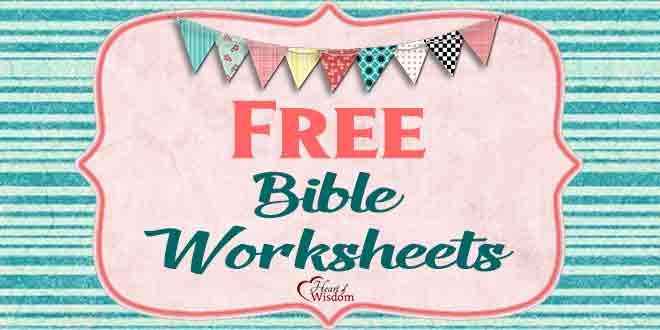 Free Bible Worksheets