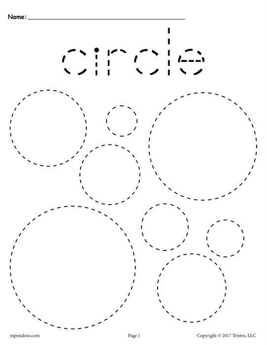 Free Circles Tracing Worksheet