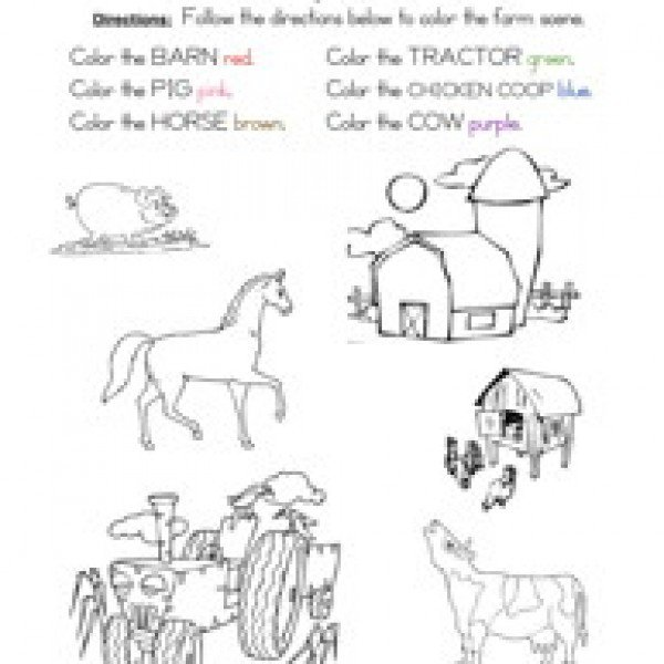 Free Following Directions Worksheets Free Worksheets Library
