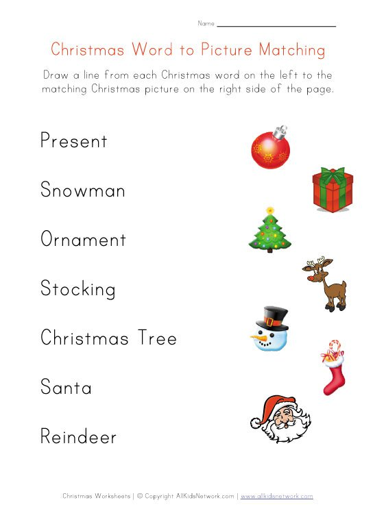 Free Printable Christmas Worksheets For Kindergarten – Fun For