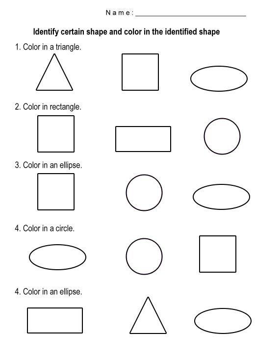 Free Shapes Worksheets