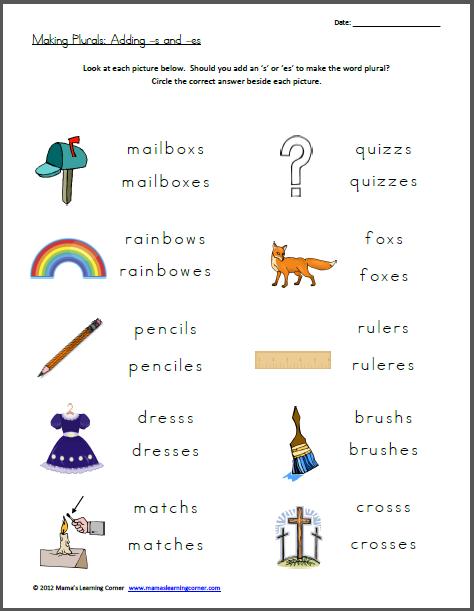 Free Worksheet  Making Plurals  Add
