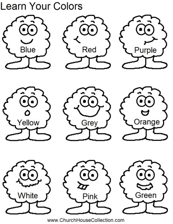 Free Worksheets » Colouring Worksheets For Playgroup