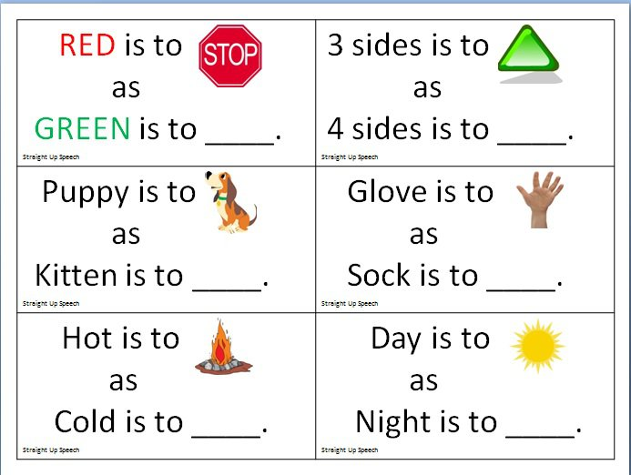 Free Worksheets » Picture Analogies Worksheet