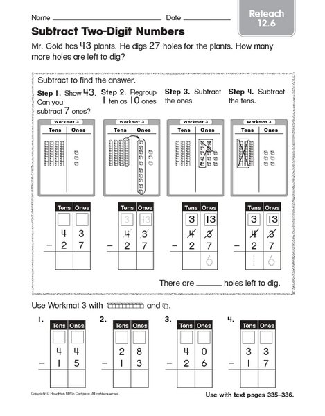 Free Worksheets » Place Value Mab Worksheets