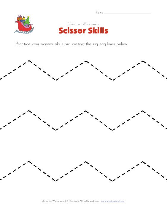 Free Worksheets » Preschool Cutting Printables