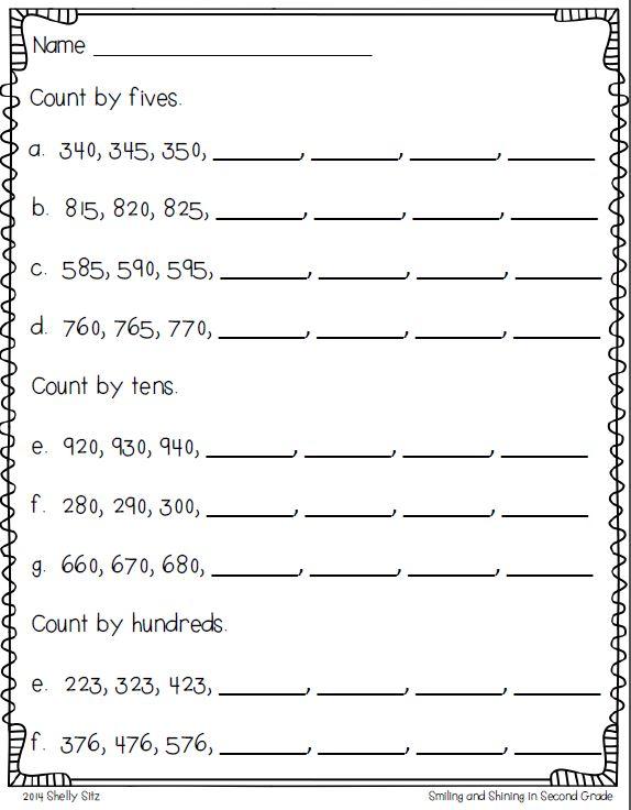 Free Worksheets » Skip Counting By 5 Worksheet
