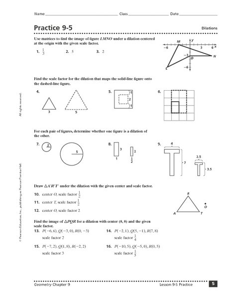 Geometry Dilation Worksheet Free Worksheets Library