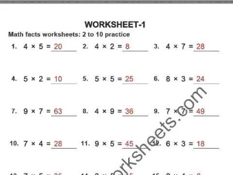Grade 4 Multiplication Worksheets