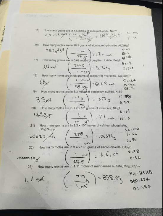 Grams Moles Calculations Worksheet Free Worksheets Library