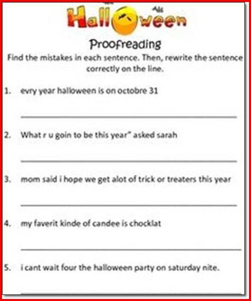 Halloween Language Arts Worksheets Free Worksheets Library