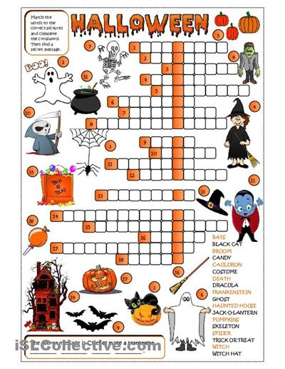 Halloween Worksheets High School