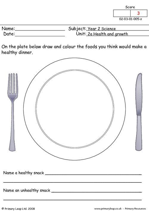 Healthy Eating Worksheet Free Worksheets Library