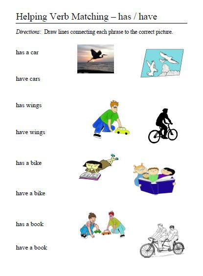 Helping Verbs – Word Lists, Activities, Worksheets, And More