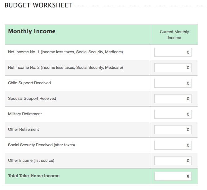 How To Budget Money Worksheet Free Worksheets Library