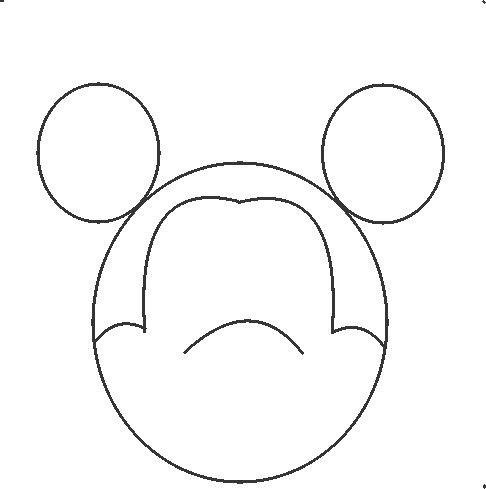 How To Draw Mickey Mouse In Some Simple Steps