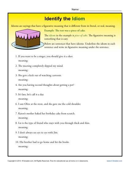 Identify The Idioms