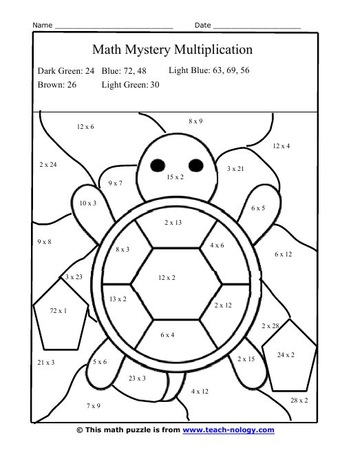 Image Result For Math Coloring Worksheets