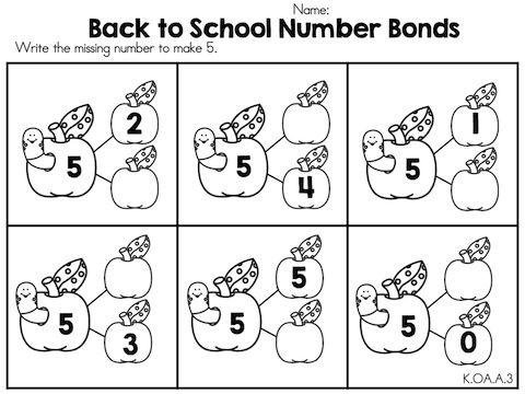 Image Result For Number Bonds To 5 Worksheet