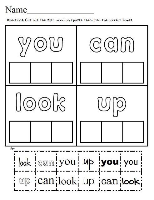 Kindergarten Cut And Paste Worksheets Free Worksheets Library