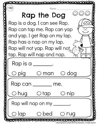 Kindergarten Reading Comprehension Passages