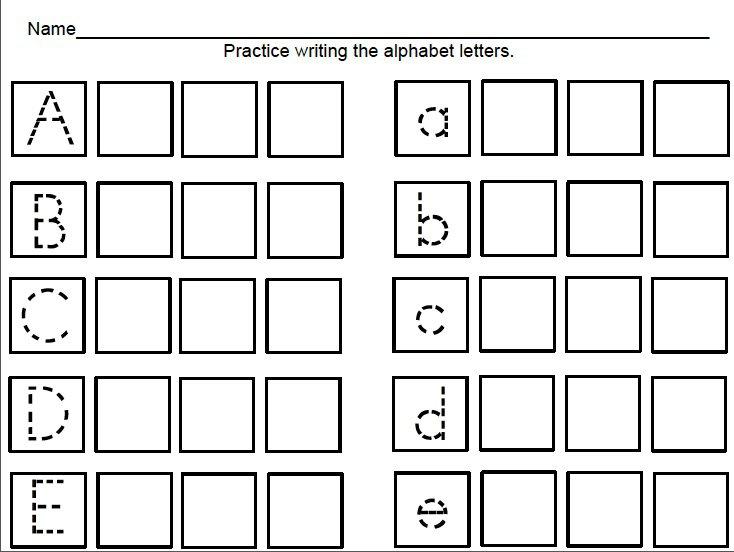 Kindertrips  Free Handwriting Sheets