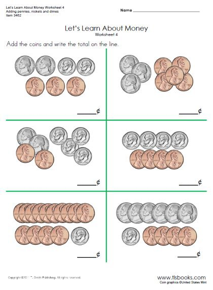 Let's Learn About Money Worksheets 4 And 4a