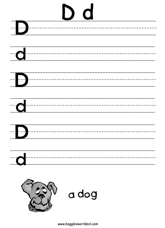 Letter D Worksheets  1