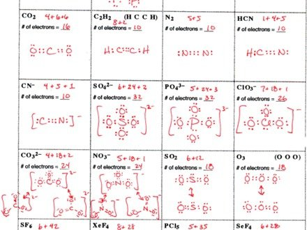 Lewis Structures Worksheets Answers