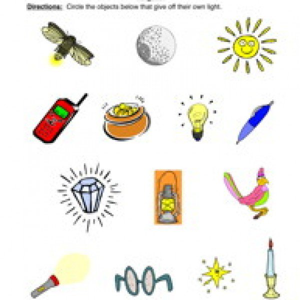 Light And Energy Worksheets