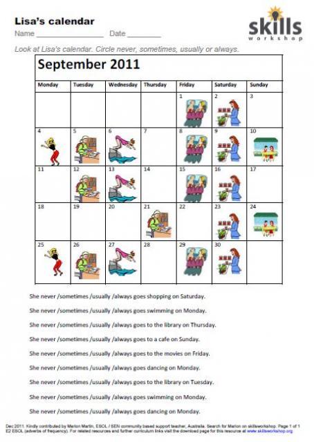 Lisa's Calendar
