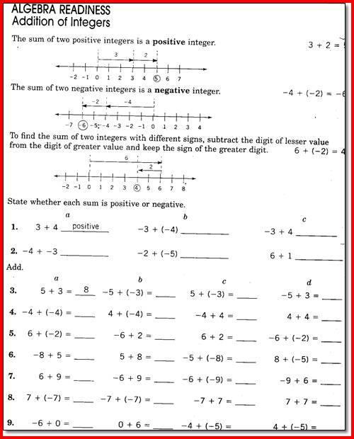 Math For 7th Graders Worksheets Free Worksheets Library