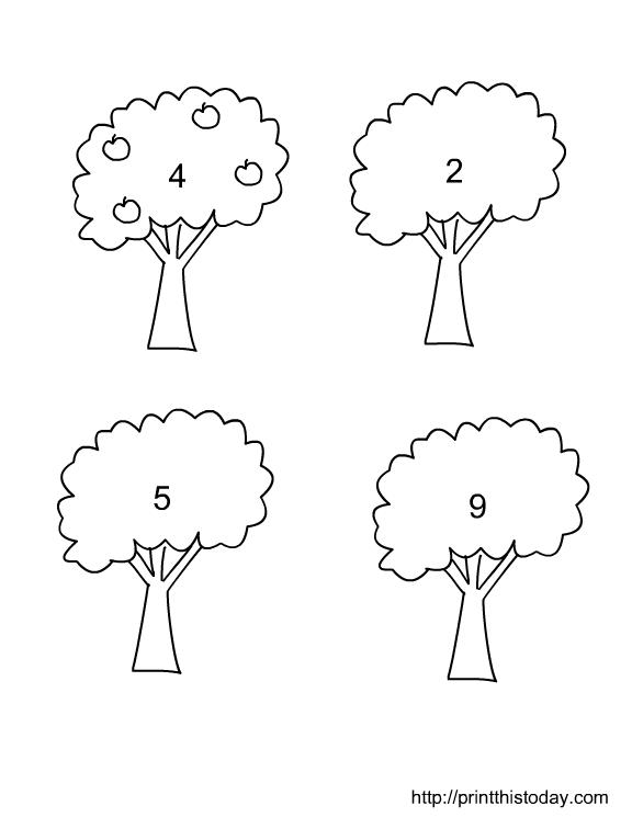 Math For Preschoolers Printables