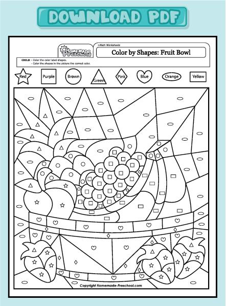Math Worksheets » Preschool Math Worksheets Pdf Free
