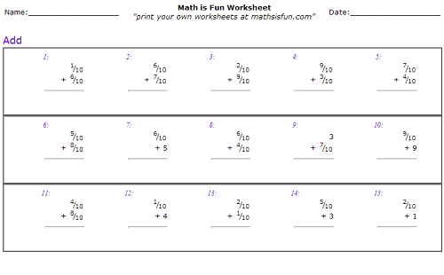Math Worksheets For 4th Grade