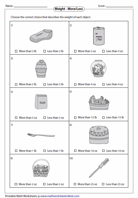 Measurement Worksheets Grade 3 Free Worksheets Library