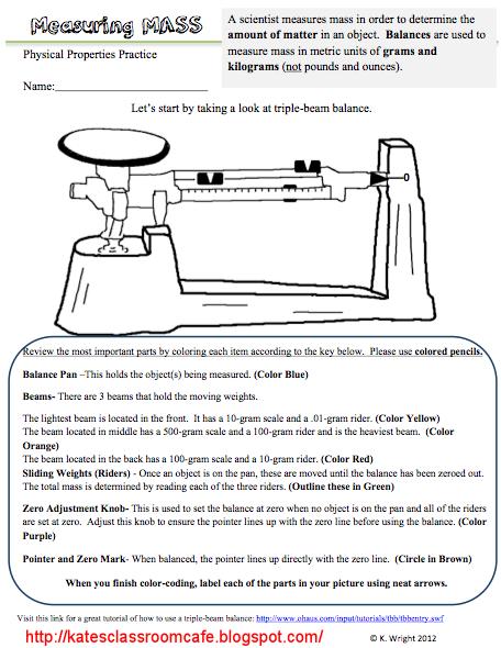 Measuring Mass Worksheet And Flipchart Freebie