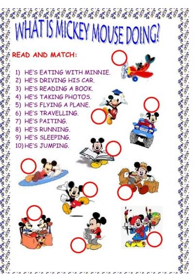 Mickey Mouse Printable Games