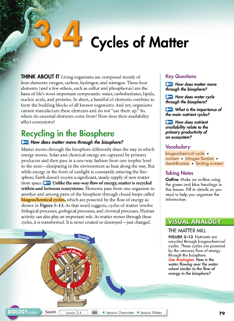 Miller Levine Biology Textbook
