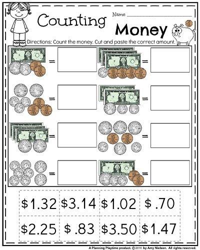 Money Worksheets For 2nd Grade