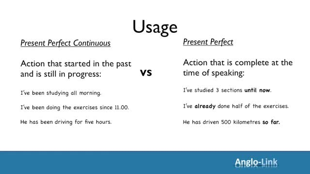 My English Class  Present Perfect Simple Vs Present Perfect Continuous