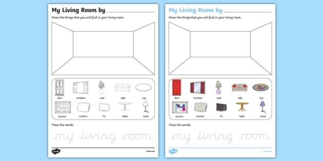 My Living Room Aistear Follow On Worksheet