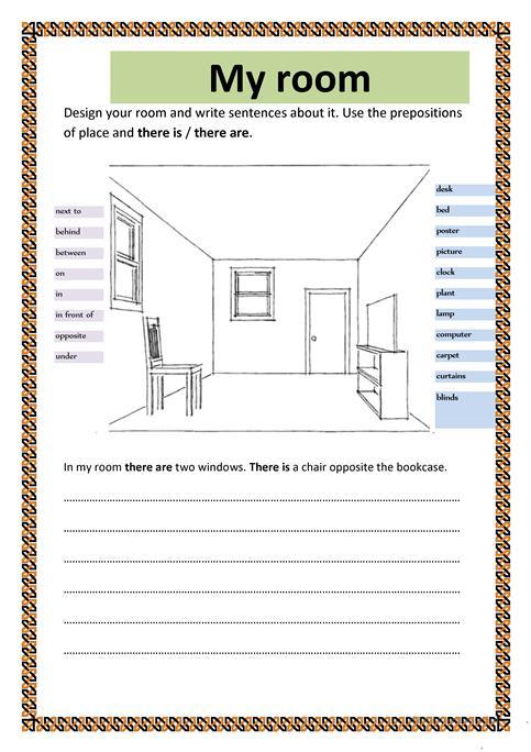 My Room Worksheet