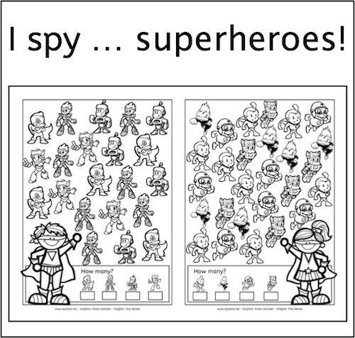 New Freebie  I Spy  Superheroes!