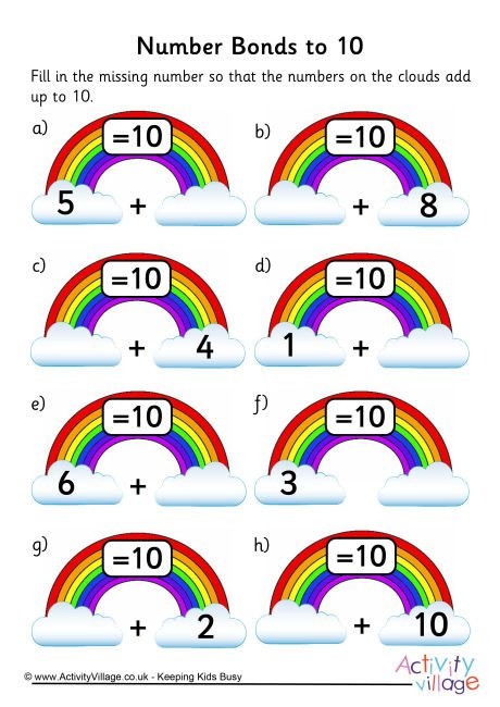 Number Bond Printables