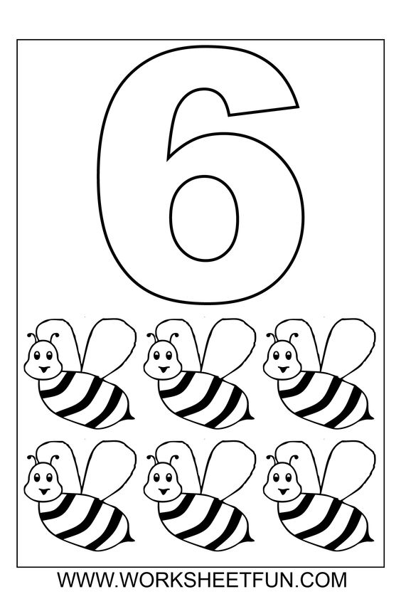 Number Coloring 1 10 Ten Worksheets Printable, 1 10 Coloring Pages