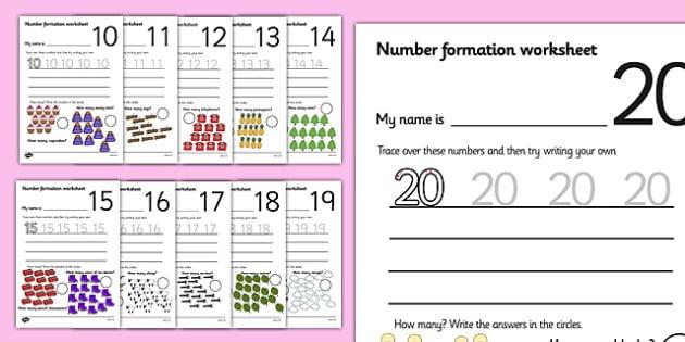Number Formation Worksheets (0