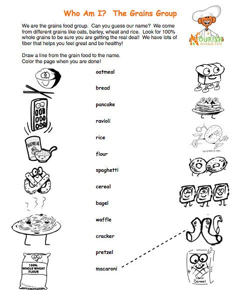 Nutrition Worksheets For Kids Free Worksheets Library